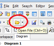How to open and edit an erx er diagram file in toad selfelected open file button in numerous tool bars in toad ccuart Gallery