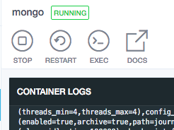 Simple connect a mongo client container to a mongodb